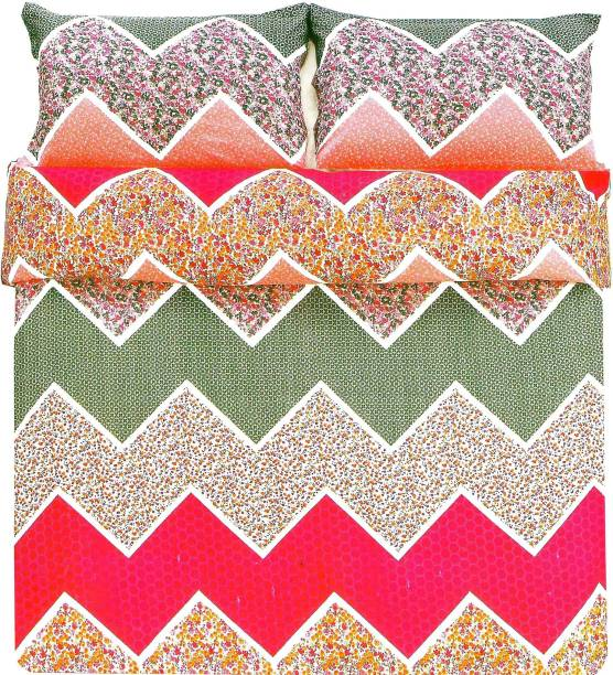 Indian Heritage Polycotton Double Abstract Bedsheet