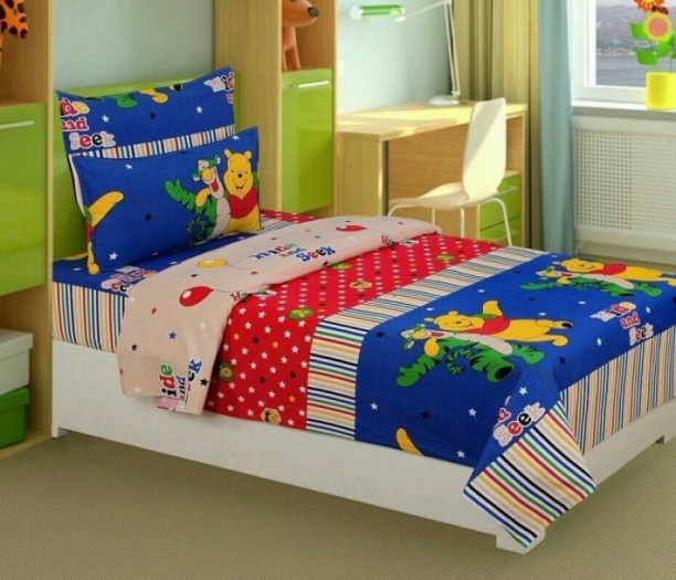 The Dazzling House 150 TC Cotton Single Cartoon Bedsheet