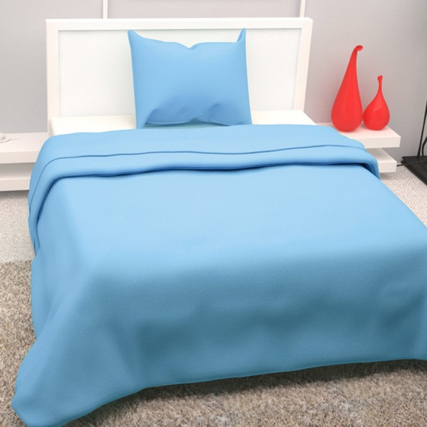 Story@Home 208 TC Cotton Single Plain Bedsheet
