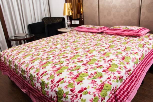 UNIQCHOICE 120 TC Cotton Double Floral Bedsheet