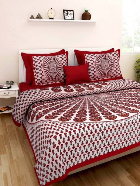 Sonal Textiles 260 TC Cotton Double Printed Bedsheet