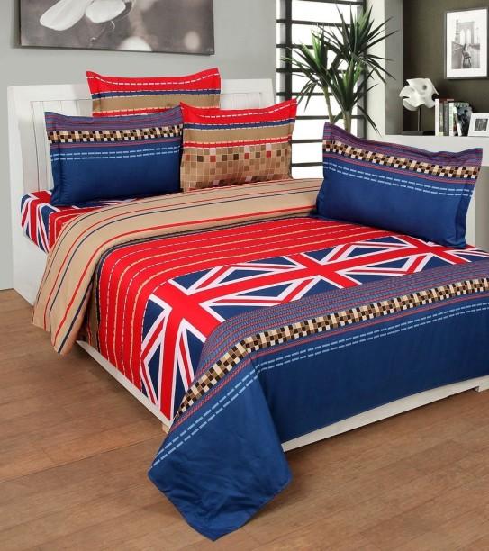 Decor World 150 TC Cotton Double Geometric Bedsheet