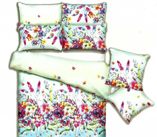 Indian Heritage Cotton Double Floral Bedsheet