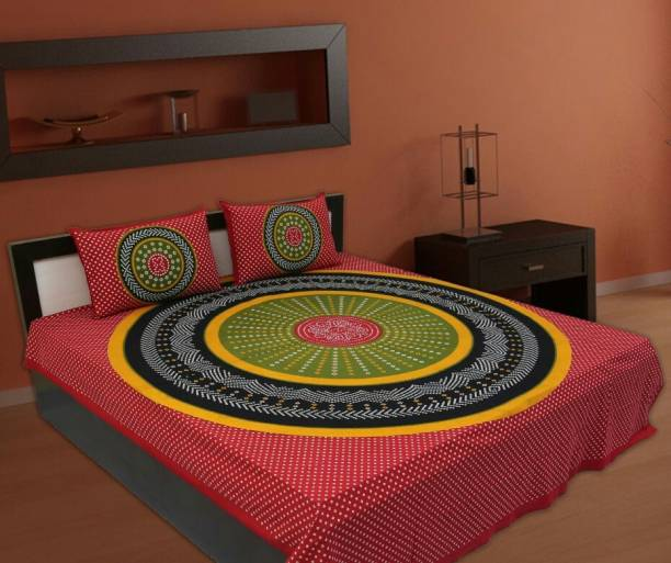 RoopGovind 300 TC Cotton Double Printed Bedsheet