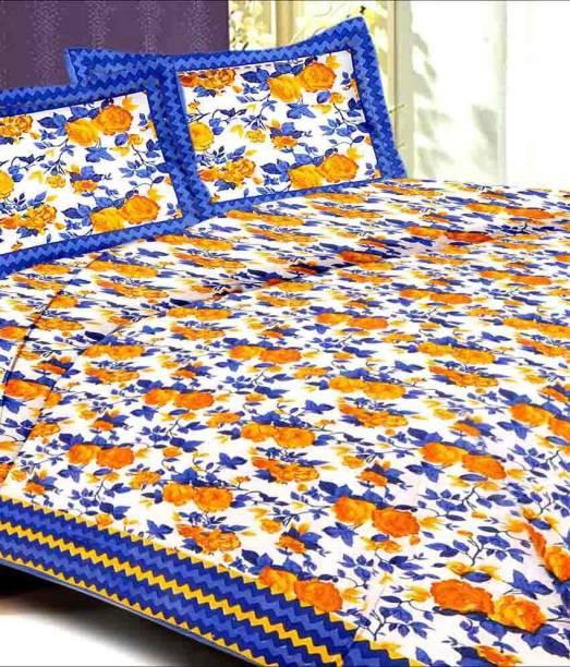 UNIQCHOICE 144 TC Cotton Double King Printed Bedsheet