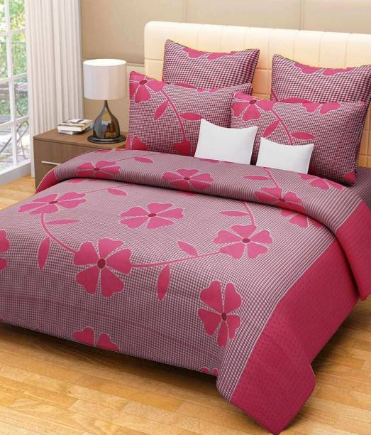 Decor World 150 Tc Cotton Double Printed Bedsheet