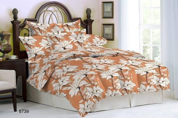 Bombay Dyeing Cotton Double Floral Bedsheet