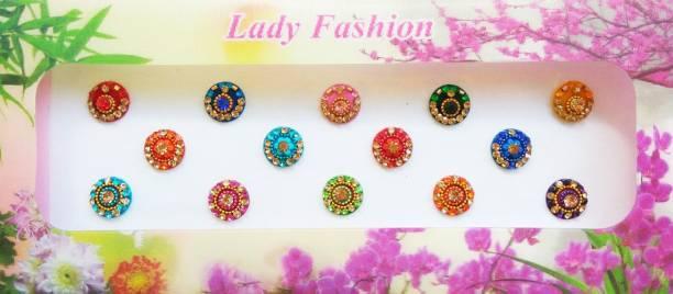 Lady FASHION Beautiful Fancy 2810201603 Forehead Multicolor Bindis