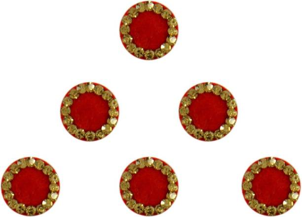 Instabuyz Golden Stones FOREHEAD Maroon Bindis