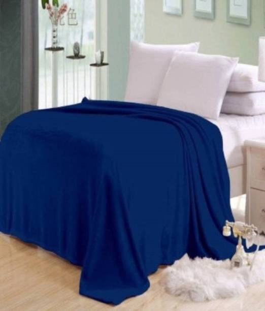 komfey Solid Single Fleece Blanket