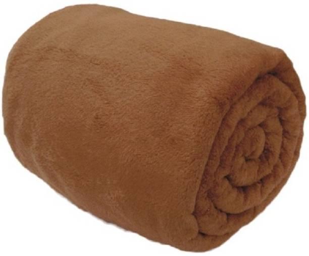 Saksham Solid Single Fleece Blanket