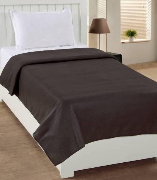 radhy krishna overseas Solid Single Fleece Blanket