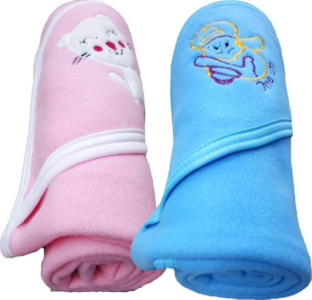 BRANDONN Solid Single Hooded Baby Blanket