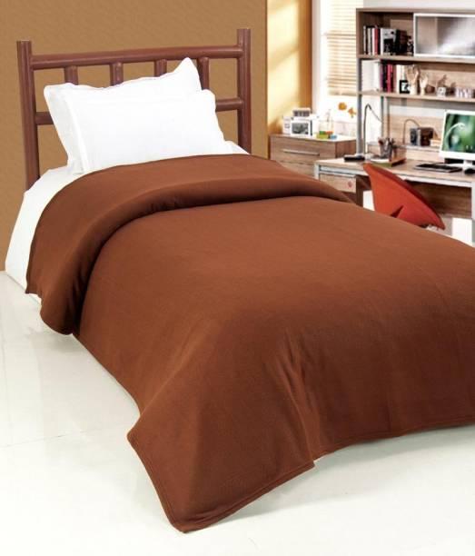 Goyal Fashions Solid Single Fleece Blanket