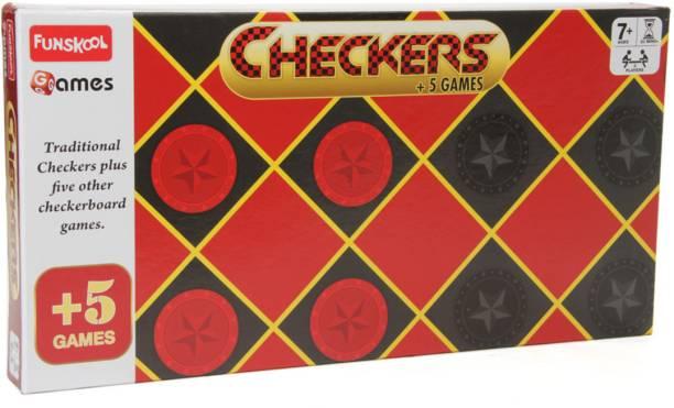 FUNSKOOL Checkers 5 Strategy & War Games Board Game