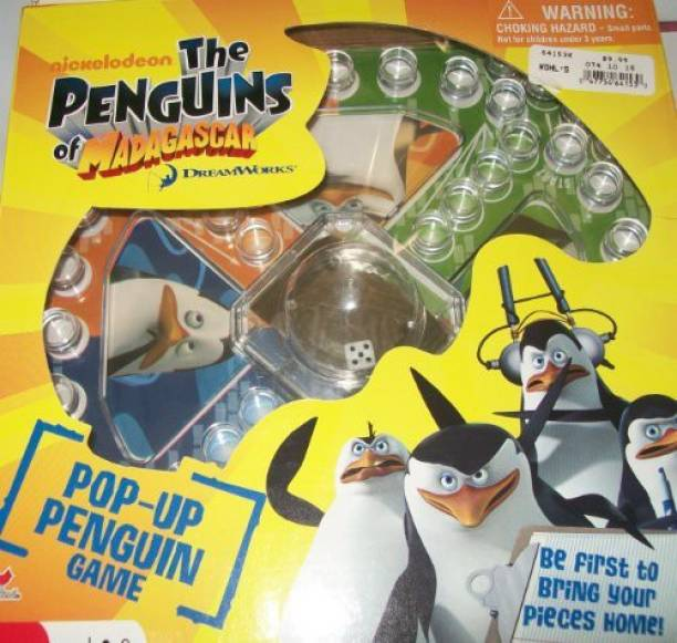 ce7111d4dd14 THE PENGUINS OF MADAGASCAR Nickelodeon The Penguins Of Madagacar Pop Up  Penguin Board Game