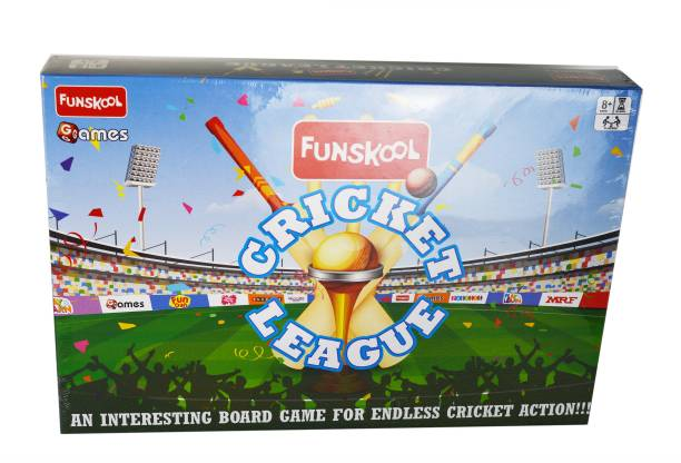 FUNSKOOL CRICKET LEAGUE, An Interesting Board Game for Endless Cricket Fun Party & Fun Games Board Game