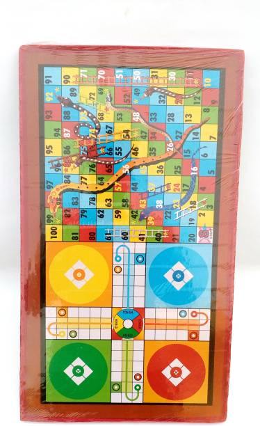 Asa Products Multipurpose Table - Ludo, Snakes & Ladders Indoor Sports Games Board Game