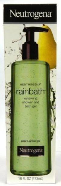 NEUTROGENA Rainbath Renewing Shower and Bath Gel & Green Tea Fragrance Pump Bottle Pack of 2