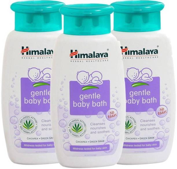 Himalaya Herbals Herbal Gentle Baby Bath (Pack of 3)