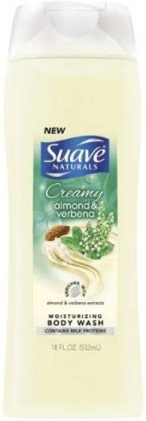 Suave Creamy Almond & Verbena Moisturizing Body Wash(3 Pack)