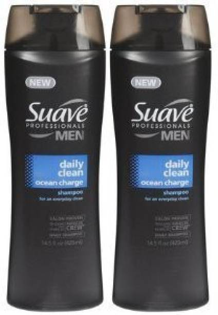 Suave Professionals Men Shampoo Daily Clean Ocean ChargePack of 2