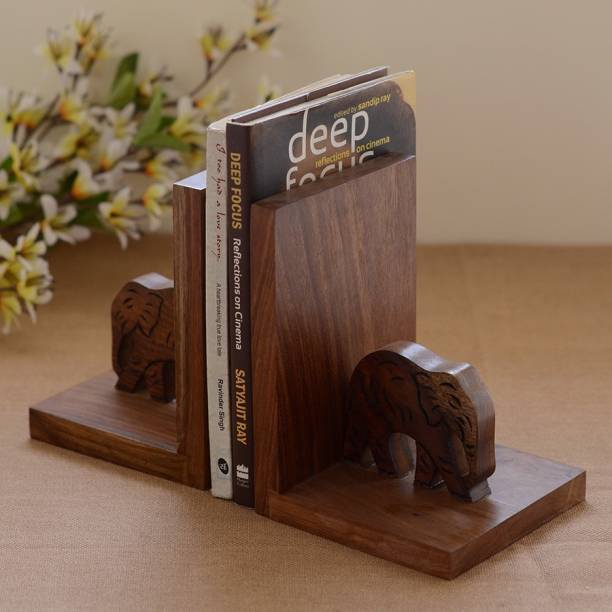 Unravel India Wooden Book End