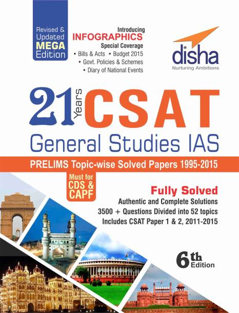21 Years CSAT General Studies IAS Prelims Topic-wise Solved Papers (1995-2015) 6th Edition 6 Edition