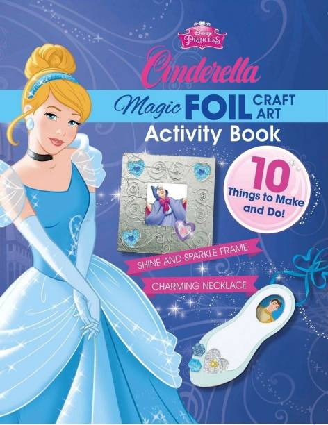 Disney Princess Cinderella Magic Foil Craft Art Book & Kit