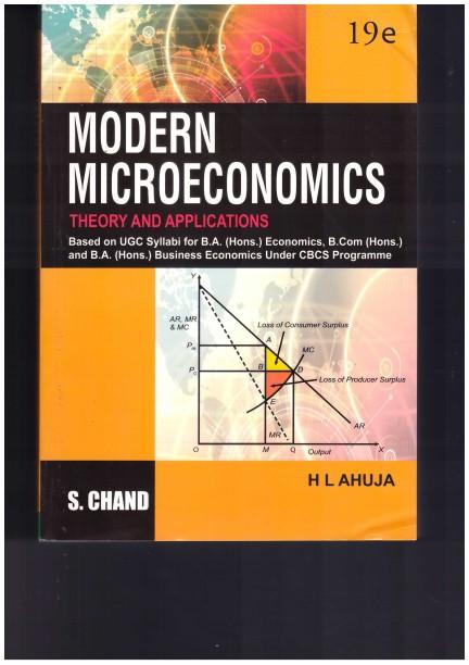 Modern Microeconomics By Hl Ahuja Pdf