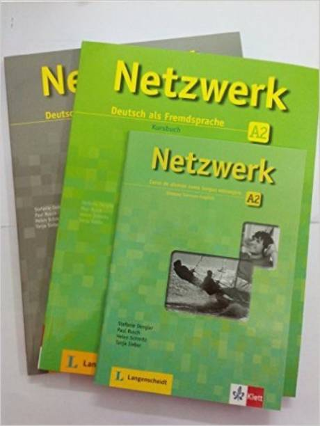 Netzwerk Deutsch als Fremdsprache A2 (Textbook + Workbook + Glossar) (with 2 CDs) Paperback – 2015