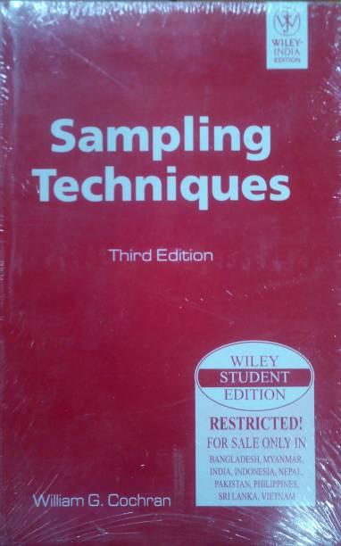 Sampling Techniques, 3rd Edition