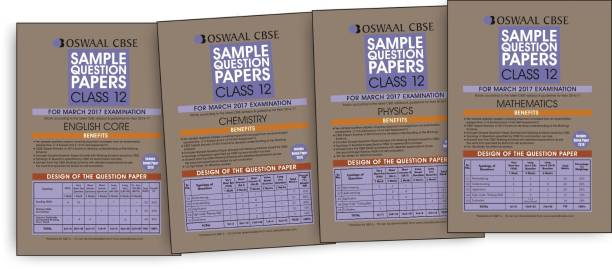 Oswaal CBSE Sample Question Paper English Core, Physics, Chemistry & Mathematics. for Class 12 (2017 Exams)