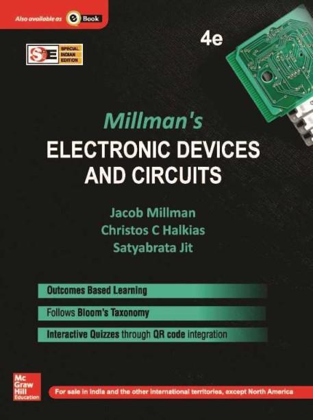 jacob millman books store online buy jacob millman books online atmillmans electronic devices and circuits (sie) 4th edition