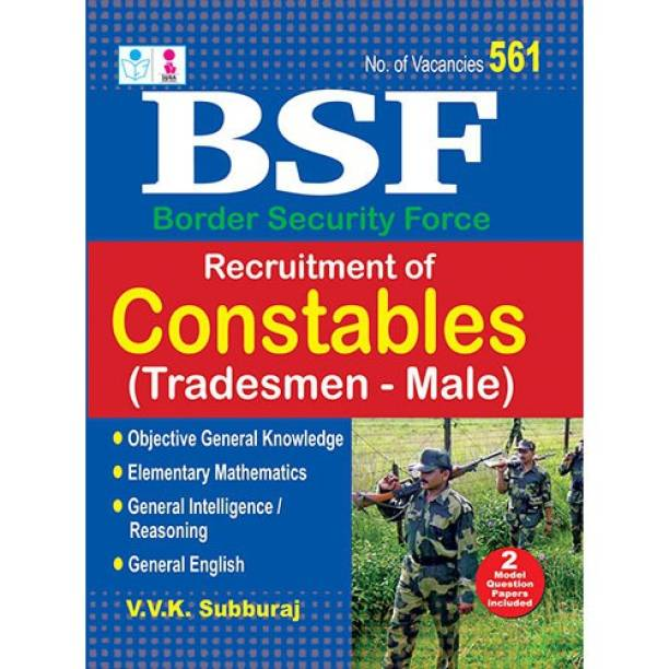 BSF Recruitment of Constables Tradesmen Male Exam Books