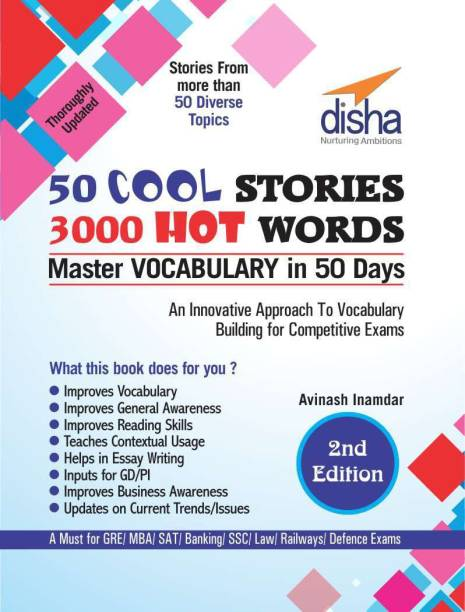 50 Cool Stories 3000 Hot Words (Master Vocabulary in 50 Days) for GRE/ MBA/ Sat/ Banking/ Ssc/ Defence Exams
