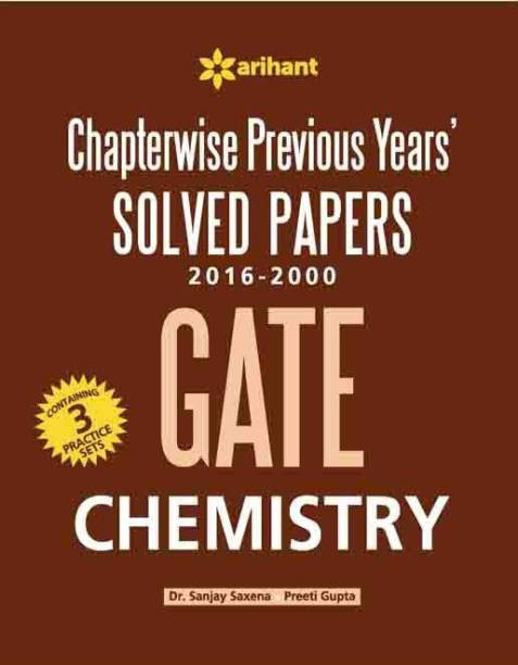 Chapterwise Previous Years' GATE - Chemistry - Solved Papers 2016 - 2000 Fourth Edition