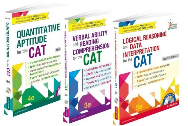Nishit K Sinha's Complete CAT Preparation Combo of Quantitative Aptitude, Verbal Ability and Reading Comprehension, Logical Reasoning & Data Interpretation
