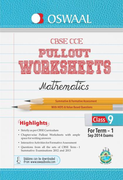 Oswaal CBSE CCE Pullout Worksheets for Term 1 Class 9 Mathematics 1st Edition