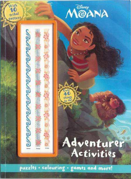 Disney Moana: Adventurer Activities with 10 Tribal Tattoos - Puzzles, Colouring, Games and more!