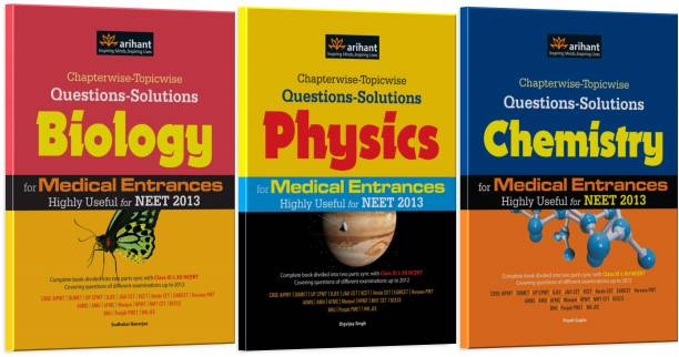 Chapterwise-Topicwise Questions-Solutions Physics, Chemistry and Biology for Medical Entrances Highly Useful for NEET 2013 (Set of 3 Books)
