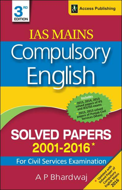 Compulsory English - Solved Papers 2001-2016 for Civil Services Examination