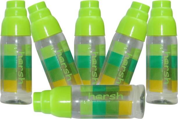 Harshpet Fridge Bottle- Rainbow Glass -Green 1000 ml Bottle