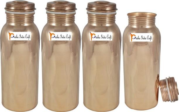 Shivshakti Traveler/'s Pure Copper Plain Water Bottle for Ayurvedic Health Benefits Holds 1000 Ml Water Joint Free Leak Proof