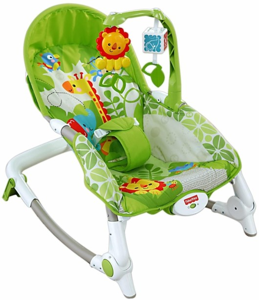 Rainforest Fisher-Price Newborn-to-Toddler Portable Rocker