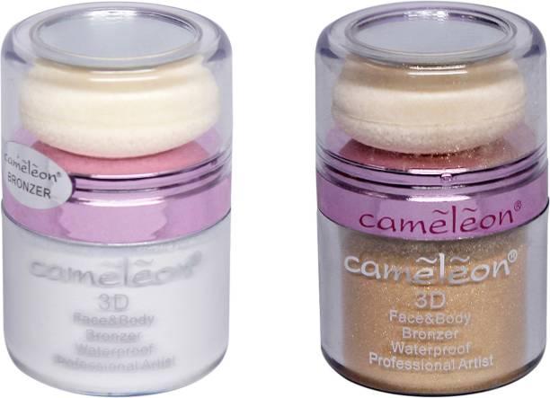 Cameleon 3D Face & Body Waterproof Bronzer Combo Pack