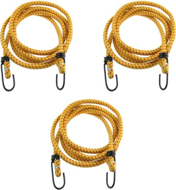 Hua You Elastic Bungee Cord Cables, Luggage Tying Vehicle Ropes 2.5 metres x 10 mm (Multicolor) Bungee Cord