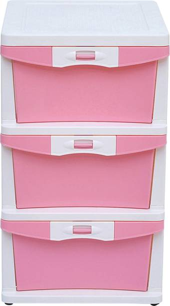 @Home by nilkamal Chester 23 Plastic Free Standing Chest of Drawers