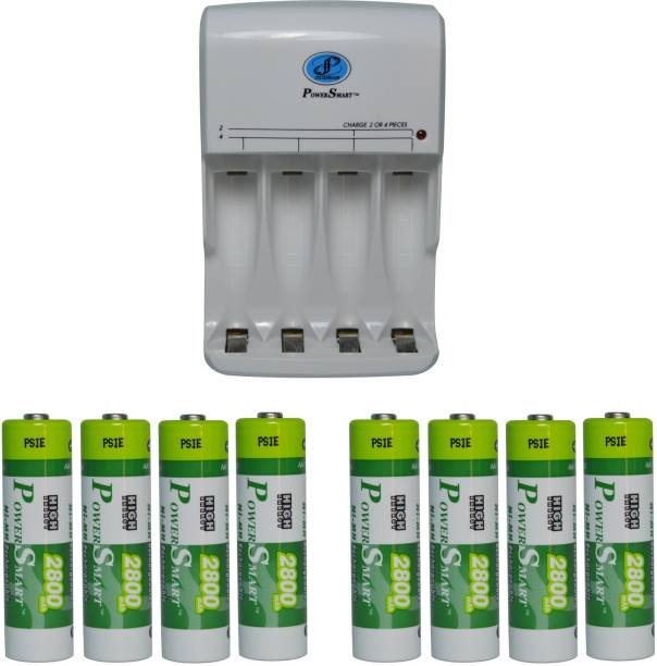 Power Smart Fast Charging Unit PS345 Combo With 2 Set 2800mahx4 AA Ready To Use Cells  Camera Battery Charger