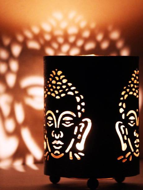 Craft Junction Lord Gautam Buddha Aluminium 1 - Cup Tealight Holder